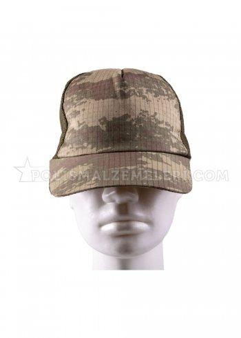 Kamuflaj Düz Asker Şapkası