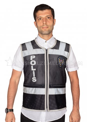 Fileli cepli polis görev yeleği