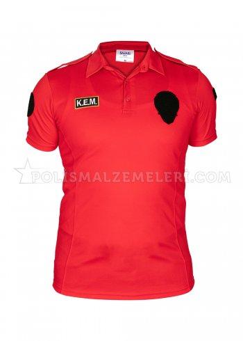 KEM Nano Kırmızı Polis Tişörtü