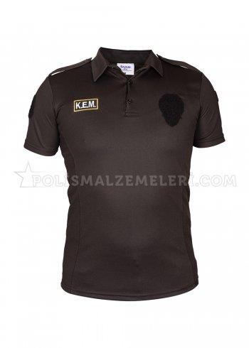 KEM Nano Siyah Polis Tişörtü